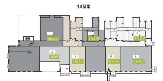 Помещение свободного назначения, 128.5 м²