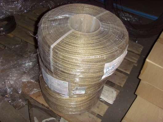 Канат, трос стальной 2-30мм, строп канатные и цепные