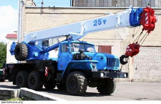 Аренда автокрана 25 тонн 28 метров УРАЛ