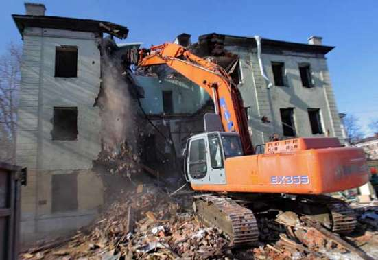 Снос зданий. Демонтаж зданий