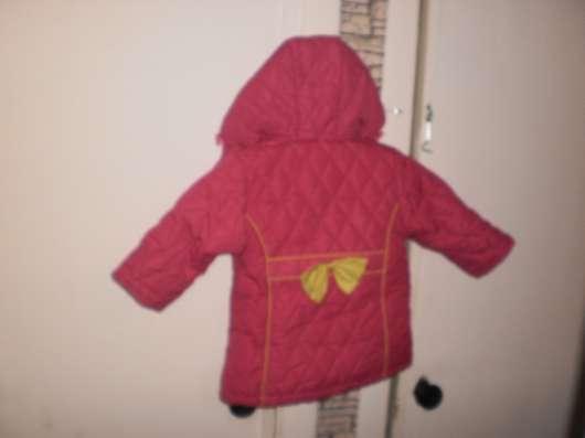 Куртка зимняя для девочки размер 86-92 см