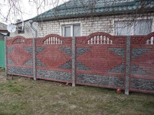 Еврозаборы глянцевые, цветные мрамор из бетона в г. Харьков Фото 2