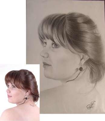 рисую портрет по фото