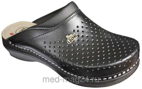 Обувь женская,ортопедическая,сабо,черные- LEON - PU -100
