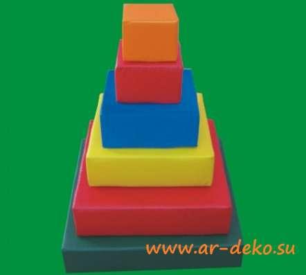Пирамидка квадратная - развивающий мягкий модуль