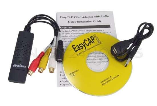Устройство видеозахвата EasyCAP USB 2.0 DVR stereo