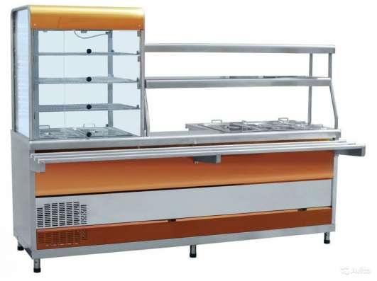 Пароконвектомат, плита, линия раздачи, шкаф пекарский.
