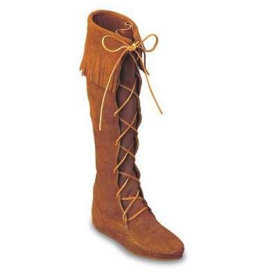 Сапоги ботфорты Minnetonka со шнуровкой