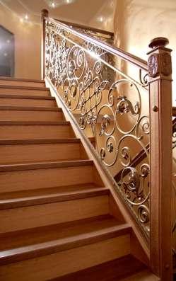 Кованные изделия. Деревянные лестницы в г. Астана Фото 2