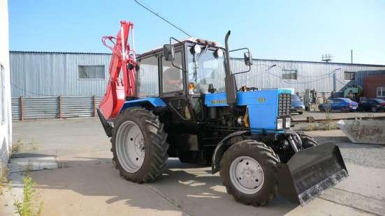 Экскаватор-бульдозер ЭО2621 на базе трактора Беларус-82 (мтз
