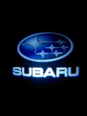 Подсветка дверей авто с логотипом Subaru штатная