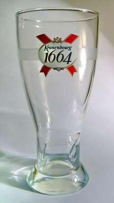 Брендовые бокалы Kronenbourg 1664(Кроненбург 1664)0.25 литра