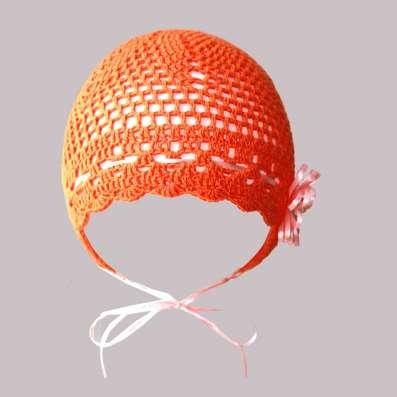 Ажурная летняя шапочка из вискозы