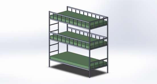 Двухярусная кровать по вашему проекту. в Москве Фото 5