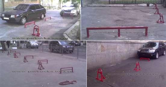 Установка барьеров парковочных, парковочных блокираторов в Москве Фото 3