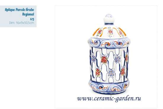 плафоны ,бра,светильники ручной росписи из фаянса Португалия