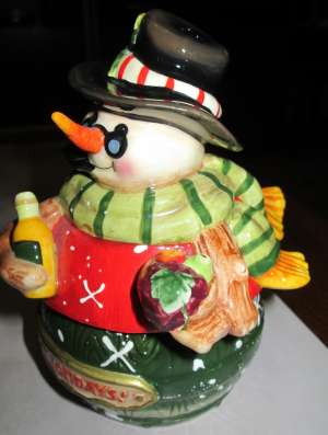Оригинальная солонка-перечница «Снеговик», Германия. в Краснодаре Фото 1