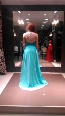 Вечернее платье бирюзового цвета в Москве Фото 2