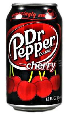 Dr Pepper Cherry (Доктор Пеппер Вишня) в жестяной банке,США