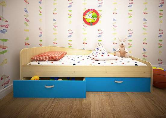 Кровать Антошка с 2-мя ящиками