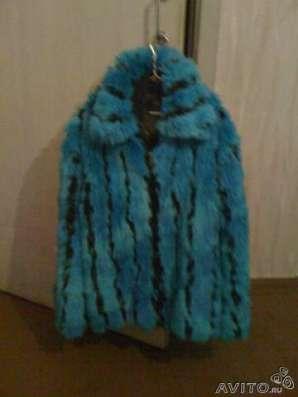 Продам ярко-синюю молодежную шубку