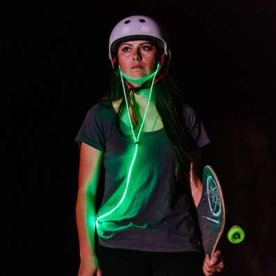 Светящиеся наушники Glow стань заметным в темноте!