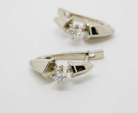 Серьги с бриллиантами 0.29 кар.