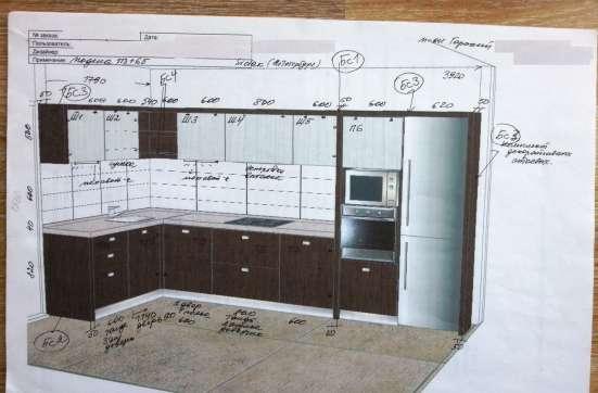 Кухонный гарнитур 1790 x 3920 мм. Б/у в Новосибирске Фото 2