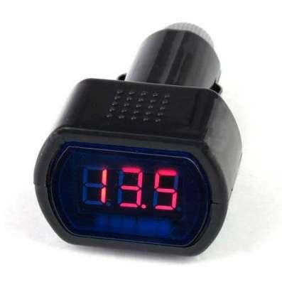 Автомобильный цифровой вольтметр в прикуриватель 12/30V