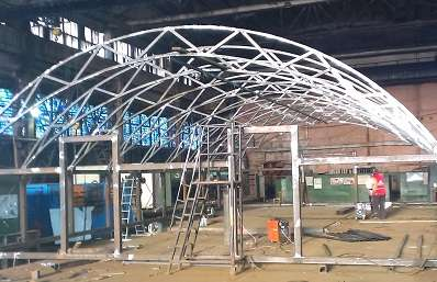 Построить магазин каркас монтаж металлоконструкций, сэндвич в Красноярске Фото 3