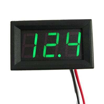 Цифровой вольтметр в корпусе, диапазон 0 - 30V