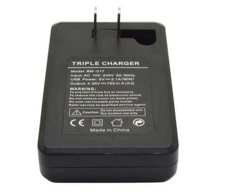 Зарядное устройство для трех аккумуляторов GoPro 4