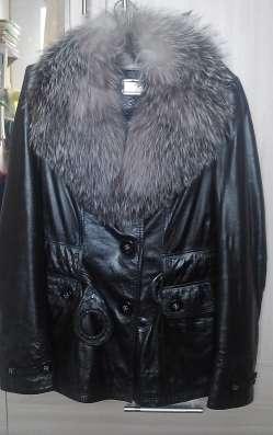 кожаная куртка с мехом ISNOVA