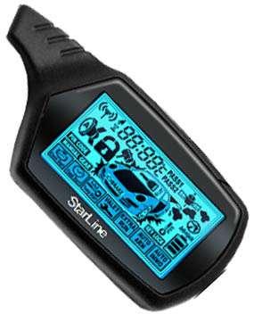 StarLine B9 брелок с ж/к чёрного цвета для а/сигнализации