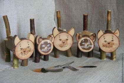 Коты деревянные вальдорфские