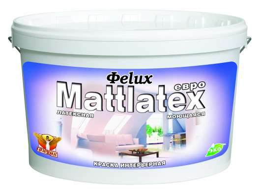 "Краска ""Mattlatex""-Евро моющаяся ГОСТ 14 кг"