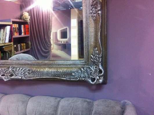 зеркало в багете ,антикварное .уникальное ,резное в Москве Фото 1