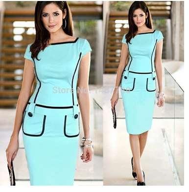 Женское платье-карандаш стрейч, размер 42-44.