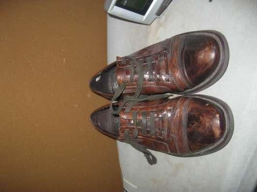 кожаные мужские туфли 41 коричневого цвета