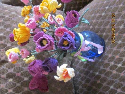 Вязаные цветы Ручная работа в Москве Фото 3