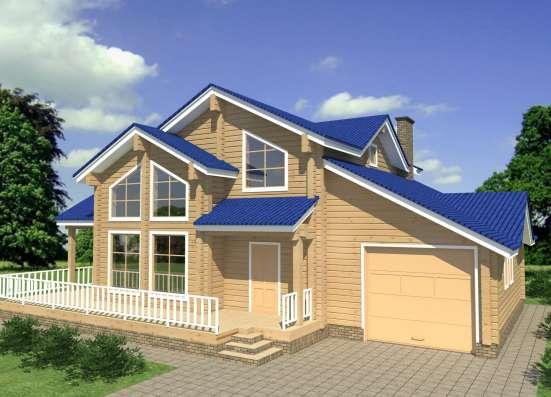 Строительство деревянного дома из бруса РАНЧО от МОГУТА