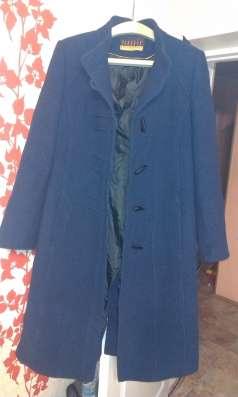 пальто демесезонное женское синего цвета