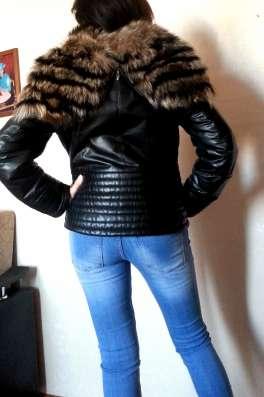 Зимняя кожаная куртка с чернобуркой в Москве Фото 2