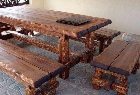 Столы из массива ручной работы