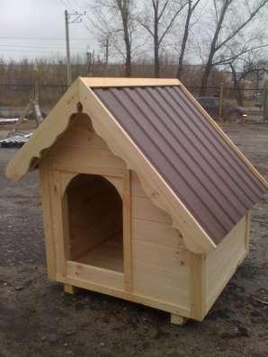 Будка для собак из дерева. Вольеры в сборе.