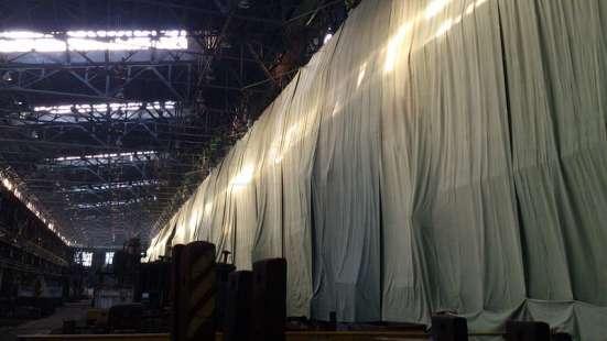 Брезентовые завесы на производство
