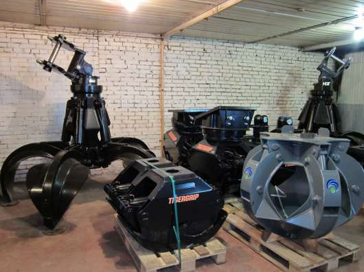 Грейфер для металлолома 600 литров (Италия) с ротатором GR16 в Москве Фото 3