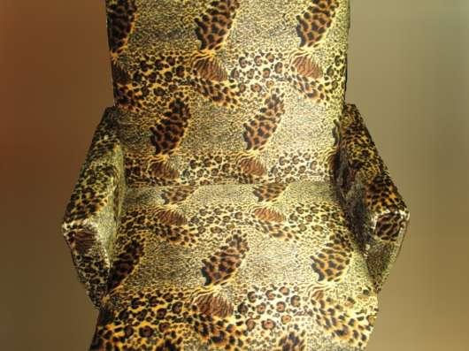 Кресло выкатное 70 Плюш гепардовый окрас