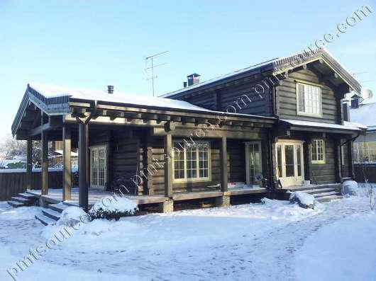 Дом ручной рубки по норвежской технологии