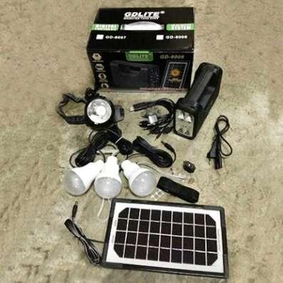 Система освещения на Аккумуляторе с солнечной панелью в Екатеринбурге Фото 2